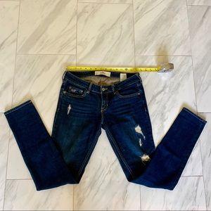 Hollister Dark Wash Distressed Skinny Jeans